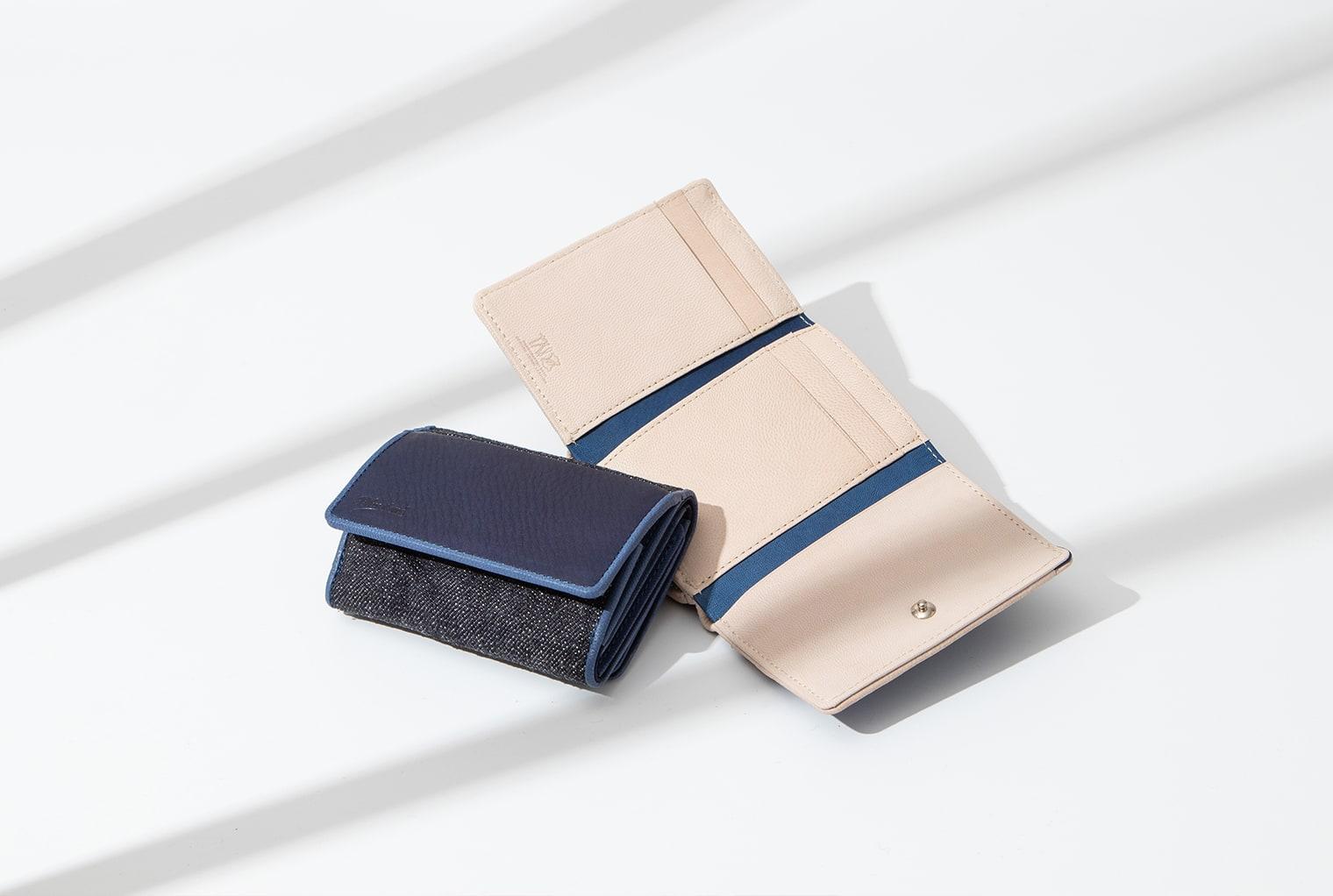 Denim × SUKUMO Leather Compact Wallet