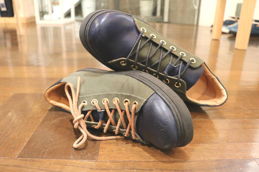 Bluestone Wax Canvas Sneakers 経年変化を楽しむ