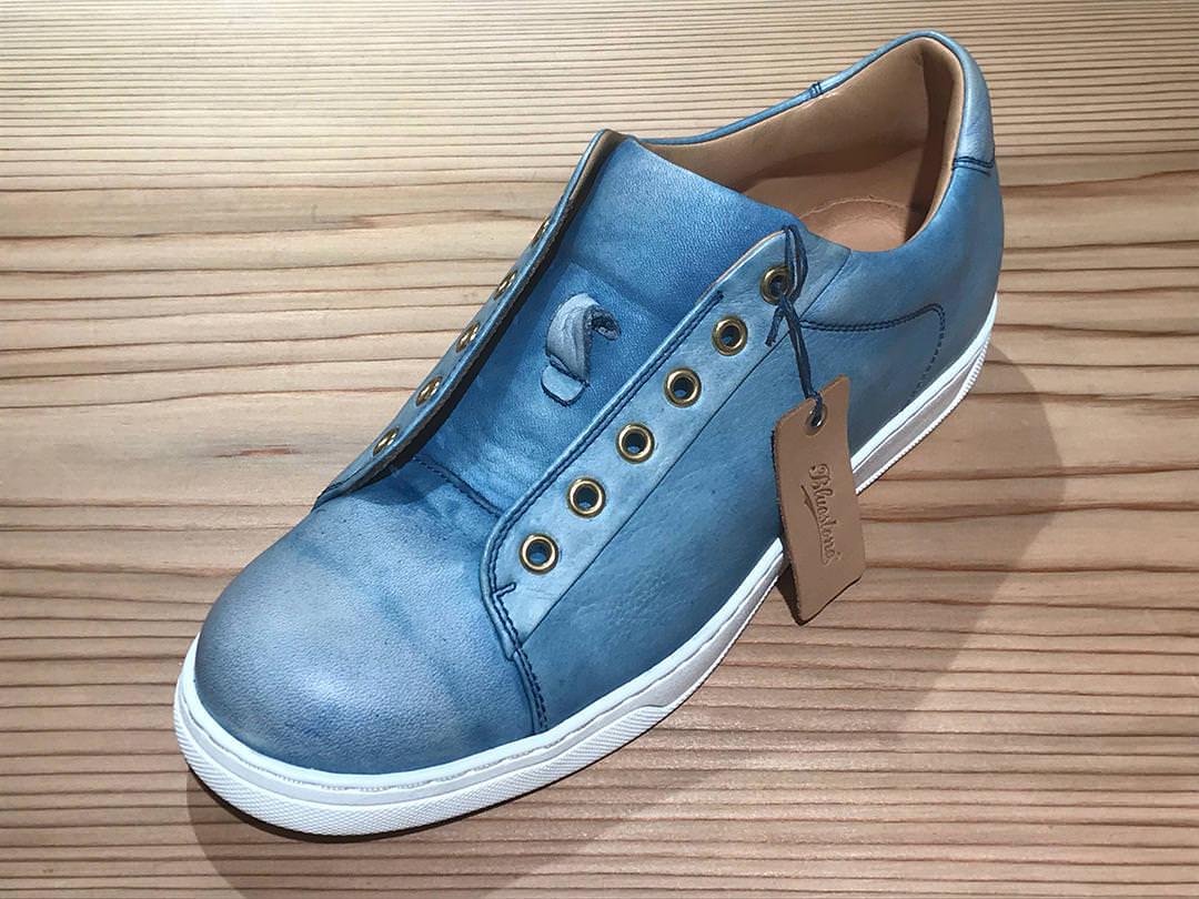 天然本藍染め(SUKUMO Leather)専用靴クリーム完成